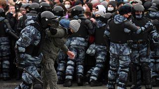 Kundgebung auf dem Moskauer Puschkin-Platz