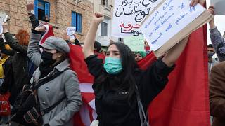 Tunisians defy police to stage more anti-government rallies