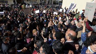تظاهرة في العاصمة تونس