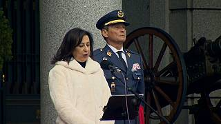 Verteidigungsministerin mit Generalstabschef Villarroya