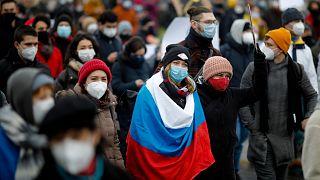 Navalny protestolarında en az 3 bin kişi gözaltına alındı