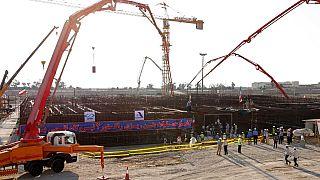عملیات بتنریزی راکتور دوم نیروگاه اتمی بوشهر