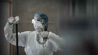 Medizinische Mitarbeiterin in Frankreich