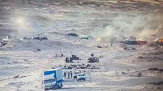 النيران في خيام  تستخدمها جبهة البوليساريو في منطقة الكركرات الواقعة في الصحراء الغربية