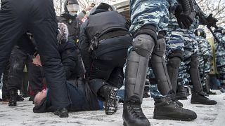 تظاهرات در روسیه در حمایت از ناوالنی