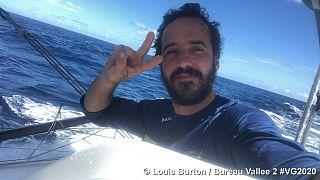 Louis Burton a bordo do Bureau Vallée 2