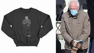 برنی سندرز و عکس سویشرتی که قرار است عواید حاصل از فروشش به خیریه اختصاص پیدا کند