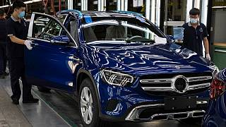 خط تولید خودروی سواری بنز در چین