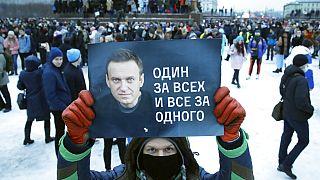 Oroszországban tüntetéshullám kezdődött Navalnij szabadonbocsátását követelve