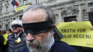 An Amnesty International protest to demand truth for Giulio Regeni in Milan in April 2016