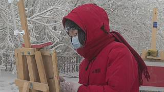 painting in the ice