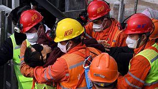 عملیات جستجو و نجات معدنچیان محبوس در چین