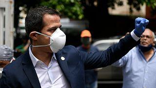 خوان گوایدو رهبر مخالفان در ونزوئلا