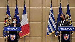 Yunan ve Fransız savunma bakanları