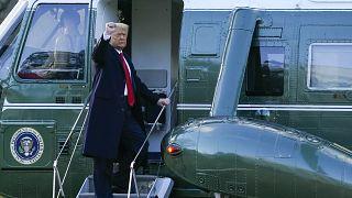 Trump Beyaz Saray'dan ayrılırken