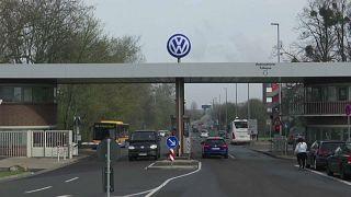 Entrada a una factoría de Volskwagen en Alemania.