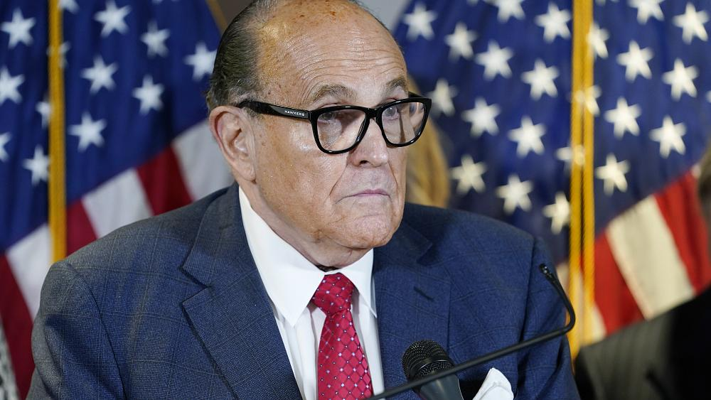 Rudy Giuliani sued for defamation over Dominion claims