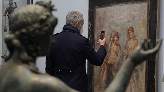 Sajtóbejárás az újrarendezett Pompeji Múzeum nyitásának napján