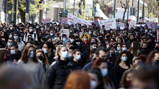 Συγκέντρωση φοιτητών στο κέντρο της Αθήνας στις 21 Ιανουαρίου 2021