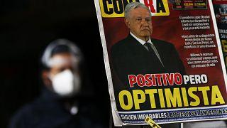 Primera página de un periódico mexicano con el positivo de López Obrador