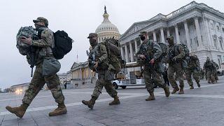 جنود الحرس الوطني الأمريك�� في واشنطن لحماية حفل تنصيب الرئيس جو بايدن