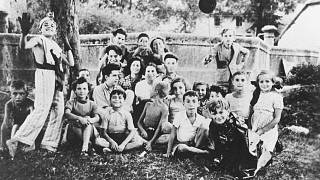 Jewish children at the Izieu children's home, France, shortly before they were deported to death camps on April 6, 1944