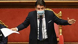 نخست وزیر ایتالیا جوزپه کونته در پارلمان این کشور