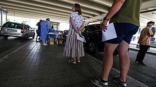 Virus Outbreak Greece Tourists