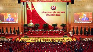 افتتاح المؤتمر الـ 13 للحزب الشيوعي في هانوي، فيتنام.
