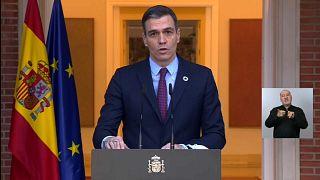 El presidente del Gobierno, Pedro Sánchez, anuncia la composición del nuevo Gobierno