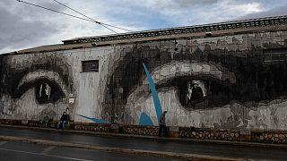 Wandbild in Athen