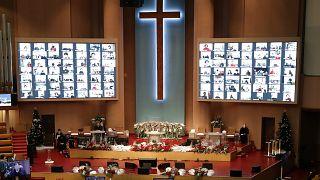 Güney Kore'de bir kilise