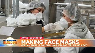 FFP2 masks being made in Germany