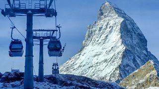 İsviçre'deki bir kayak merkezi