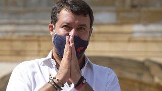 Il leader della Lega, Matteo Salvini, nel mirino della città di Barcelona
