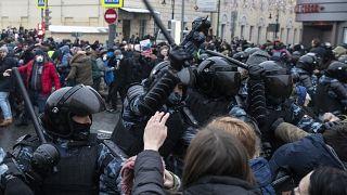 من موسكو، خلال المظاهرات المؤيدة لنافالني