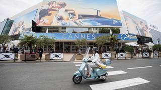 The Palais des Festivals at the 71st international film festival, Cannes, southern France, on May 7, 2018