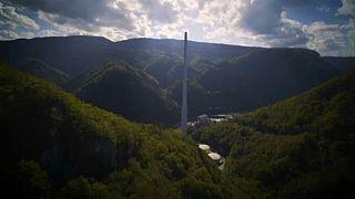 Nur für Schwindelfreie: Kraxeln auf den höchsten Schornstein Europas