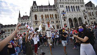 Διαδηλώσεις στη Σχολή Θεάτρου και Κινηματογράφου της Βουδαπέστης (φωτογραφία αρχείου)