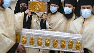 خلال احتفال ديني في رومانيا