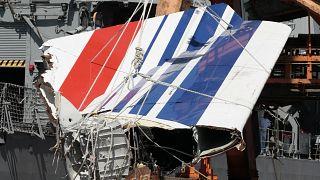 Ein Teil des abgestürzten Airbus 330 von Air France.