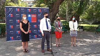 Rueda de prensa de los responsables de Sanidad de Chile