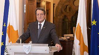 Ο πρόεδρος της Κύπρου Νίκος Αναστασιάδης στο Προεδρικό Μέγαρο της Κύπρου