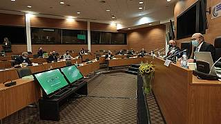 Αίθουσα του κυπριακού κοινοβουλίου