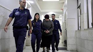 تم إحضار الأسترالية مالكا لايفر إلى قاعة محكمة في القدس، 27 فبراير 2018