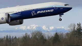 طائرة من طراز 777 إكس التابعة لشركة بوينغ/25 يناير 2020