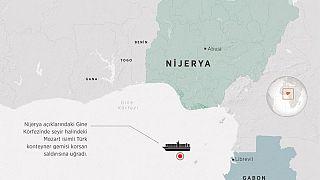Gine Körfezi'nde Türk mürettebatın korsanlar tarafından kaçırıldığı bölge.