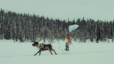 The tongue in cheek video for the campaign shows people doing summer sport in the snow.