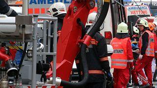 عکس آرشیوی از حادثه فروریزی ساختمانی در وین