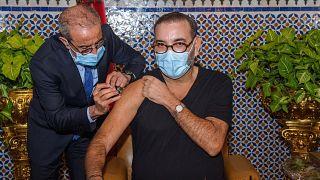 Le roi du Maroc a reçu sa première dose de vaccin